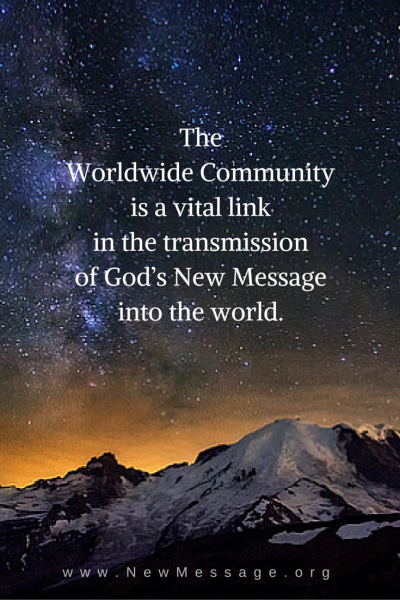 Worldwide community of God's new message